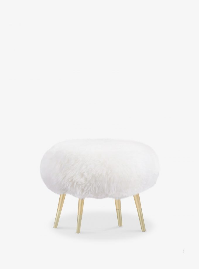 MARSHMALLOW-FUR-STOOL